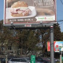 Billboardy 6x3, Kampania Freshmarket, dostawca AMS, dom mediowy Zenith